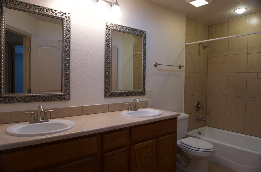 161 sun hawk hall bath eith double sink vanity & in-tub shower