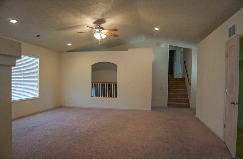 172 Winter Hawk living room with overlook to family room