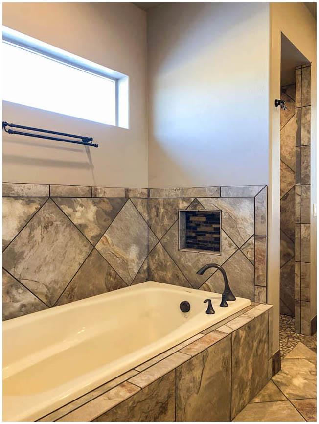 Bathroom Design - Soaking Tub with Custom Tile Surround