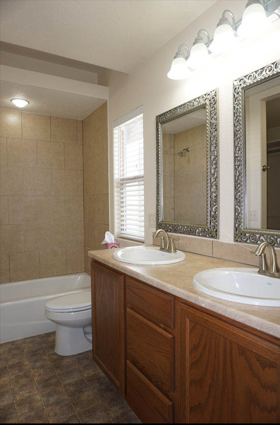 Master Bath double sink vanity in 169 Sun Hawk Drive