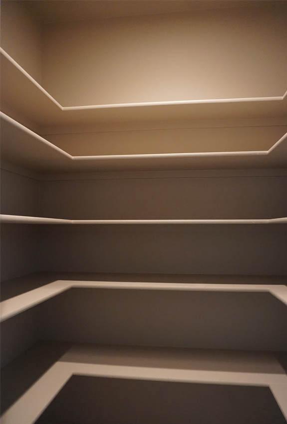 walk-in pantry of 188 night hawk drive has lots of storage!