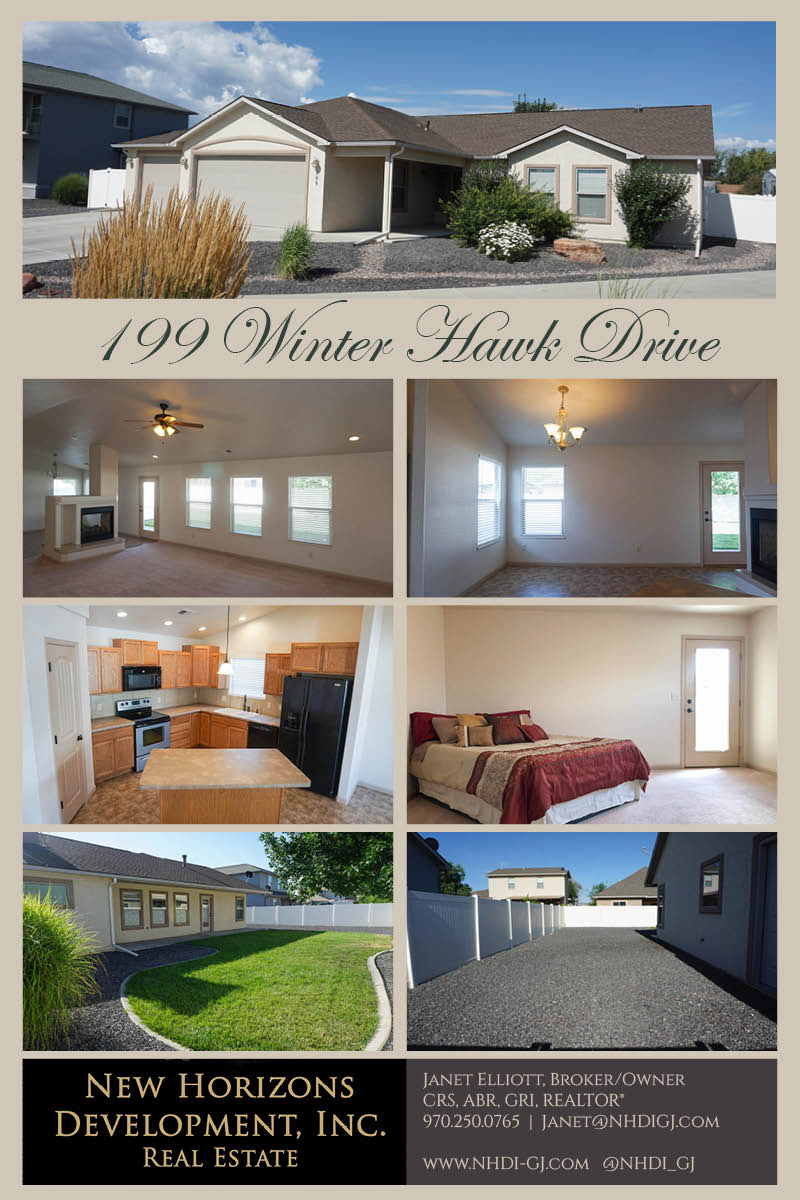 199 Winter Hawk Drive is a 3 bedroom, 2 bath home in Hawks Nest Subdivision. The great ranch-style home has vaulted ceilings in the living area, and a double-sided column fireplace separates the living & dining rooms. The kitchen has a walk-in pantry, island with seating, and all appliances.