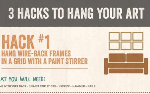 3 Hacks To Hang Your Art from WorldMarket.com