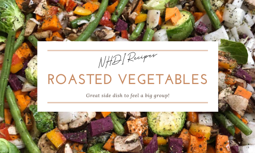 Roasted Vegetables, a recipe from New Horizons Development, Inc.