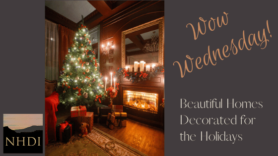 This week's Wow Wednesday features a beautiful Christmas fireplace scene to inspire you in your Holiday decorating!