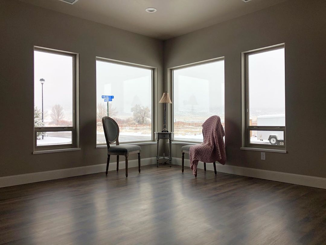 The bonus room or office in 1305 Niblick Way has large picture windows facing west and south towards the Colorado National Monument