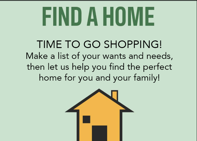 Find A Home! It's time to go house shopping!