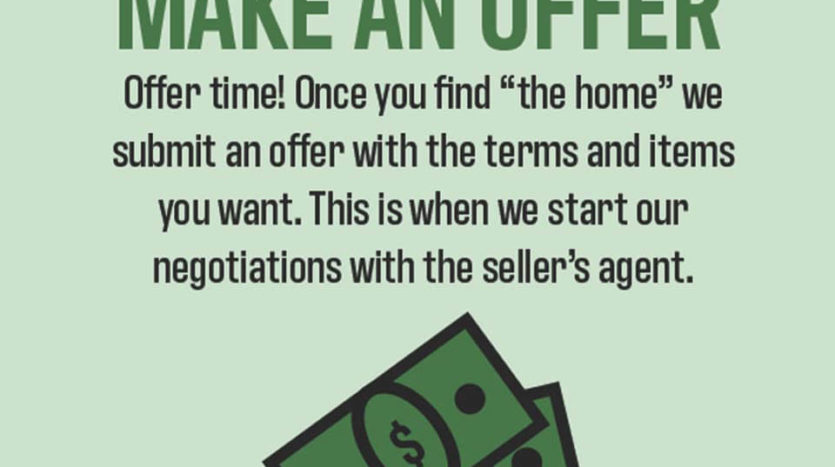 Make An Offer! You've found the home for you, now it's time to make an offer to purchase it.