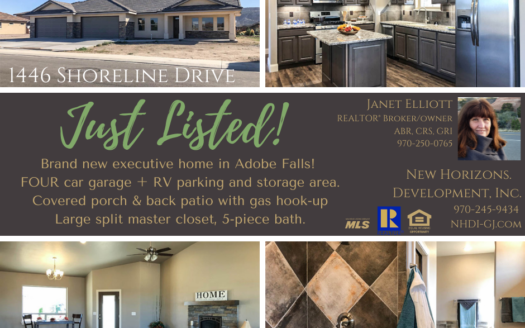 Just listed in Adobe Falls!⁣ ⁣ 1446 Shoreline Drive is a 3 bedroom, 2 bath, 4 car garage home with RV parking. Covered patios on front and back, storage closet built in, and INCREDIBLE master closets!⁣ ⁣ This home is a must see! ⁣