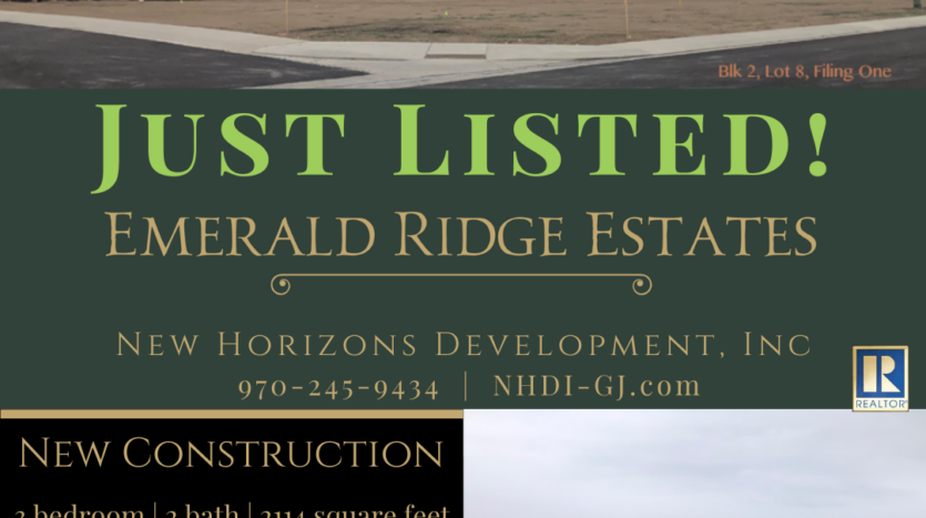 Just listed in Emerald Ridge Estates! 856 Fire Agate Lane will be a 3 bedroom, 2 bath, 3 car garage home with RV parking.