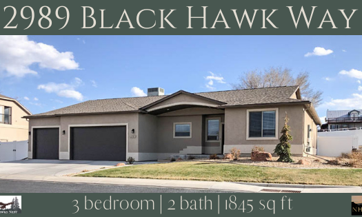 2989 Black Hawk Way is a 3 bedroom, 2 bath, 1845 square foot home in Hawks Nest Subdivision.