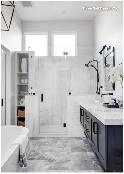Black & White Bathroom Design