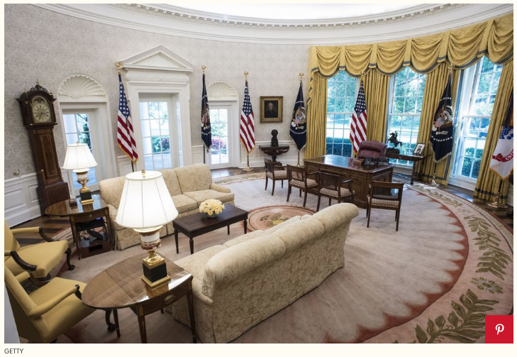 Oval Office of President Trump