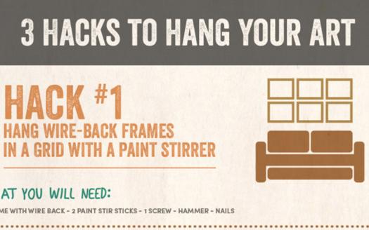 3 Hacks To Hang Your Art from WorldMarket.com