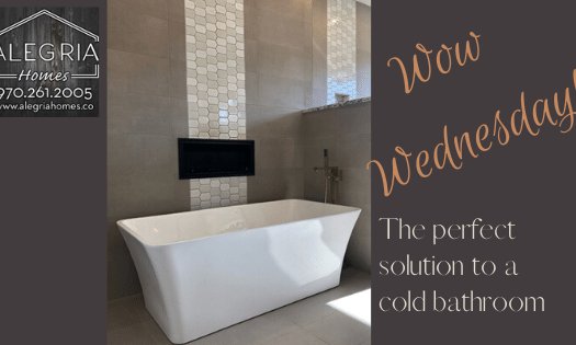 The perfect solution to a cold bathroom is found in this beautiful home built by Alegria Home Builders in Grand Junction, CO.