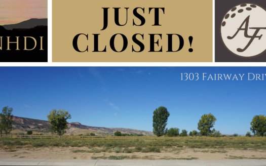 1305 Fairway Drive is a 0.33 acre lot on the west perimeter of Adobe Falls Subdivision.